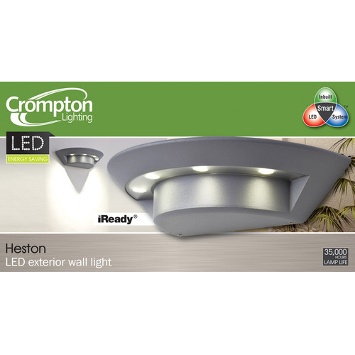 Heston 4 Light LED Exterior Wall Light in Silver Temple & Webster