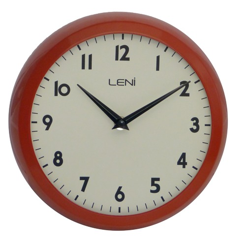 Leni 23cm Round Metal School Wall Clock