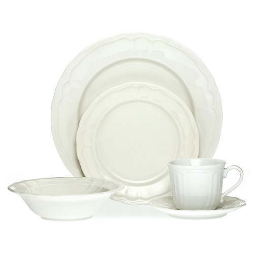 Noritake 20 Piece Baroque White Dinner Set