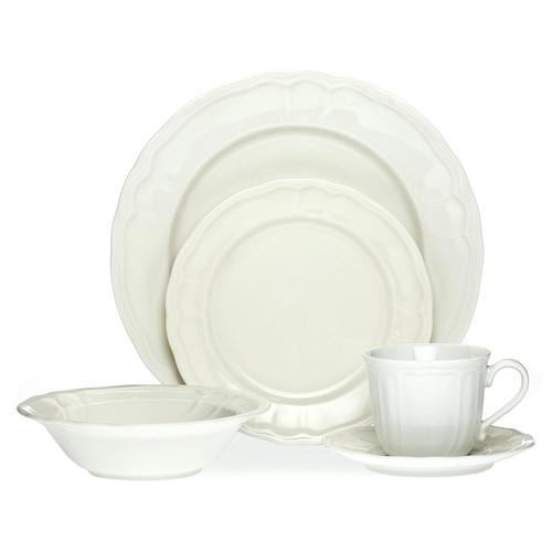 Noritake Baroque White 20 Piece Dinner Set