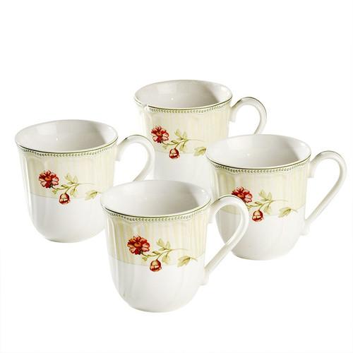 Noritake Fleur de Provence 4 Mug Set