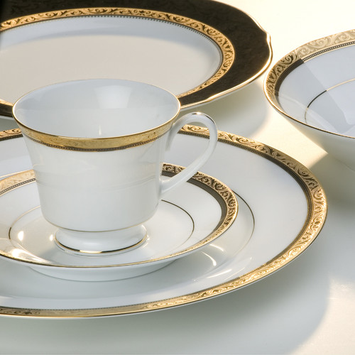 Noritake Regent Gold Tea Cup and Saucer Set