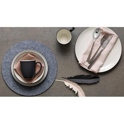 Noritake Colorwave Graphite 16 Piece Coupe Dinner Set