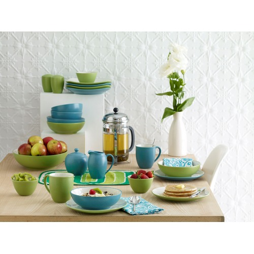 Colorwave Turquoise 16 Piece Coupe Dinner Set