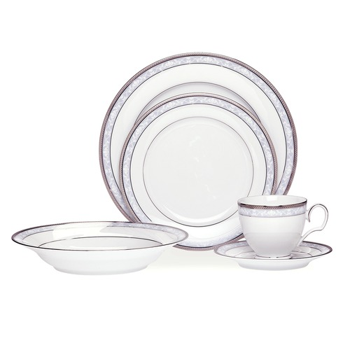 Noritake Hampshire Platinum Dinner Set with Gift Box 20 Piece
