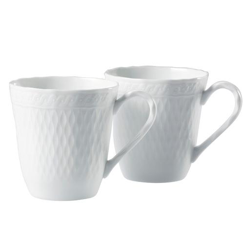 Noritake White Noritake 295ml Porcelain Mugs