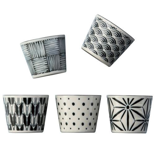 Noritake 5 Piece Komon Japanese Porcelain Teacup Set