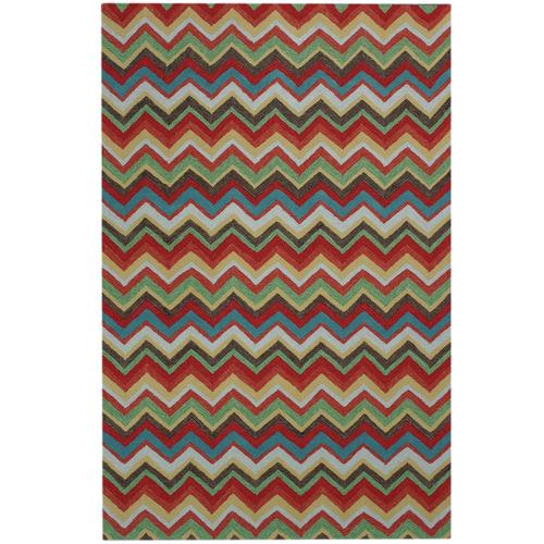 Colorscope Multi-Colour Chevron Modern Rug