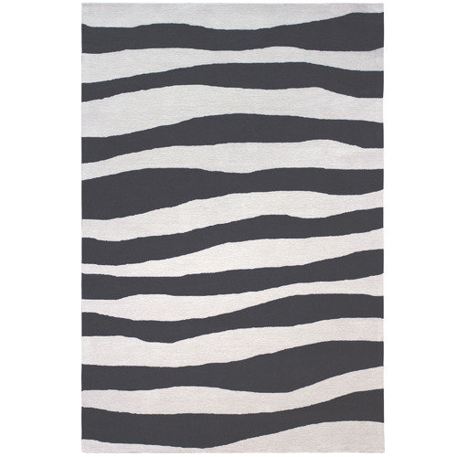 Colorscope Black Waves Modern Rug