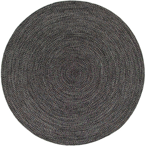 Colorscope Charcoal Seasons Stripes Round Outdoor Rug