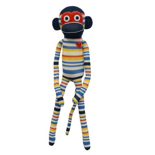 Sockie Monkey Stripe Plush Toy Temple Amp Webster