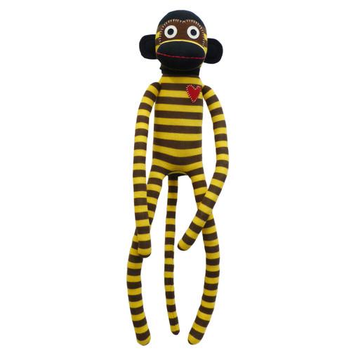 Boyle Sockie Monkey Stripe Plush Toy