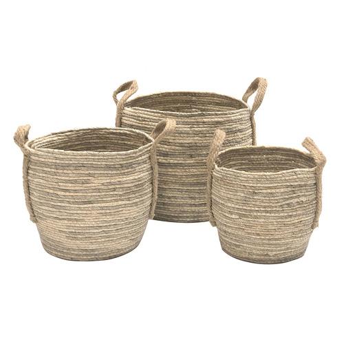 Boyle 3 Piece Bulbous Side Corn Basket Set