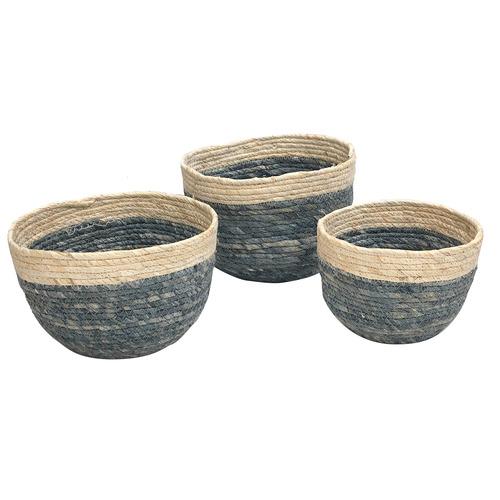 Boyle 3 Piece Round Base Corn Basket Set
