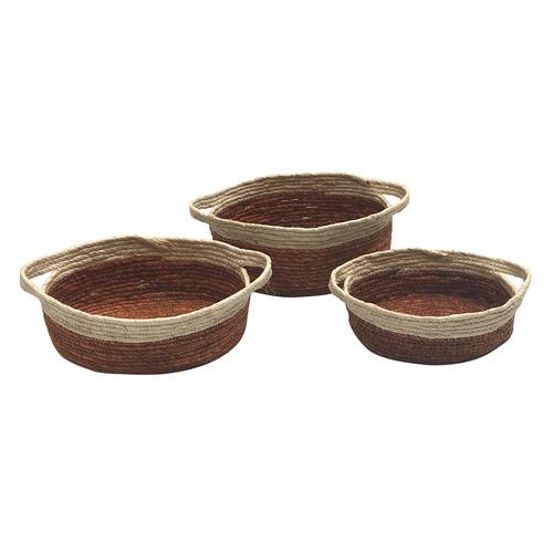 Boyle 3 Piece Oval Base Corn Basket Set