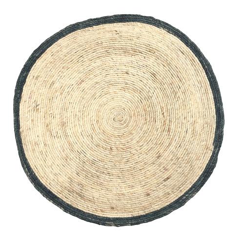 Boyle Indigo Edge Corn Round Floor Mat