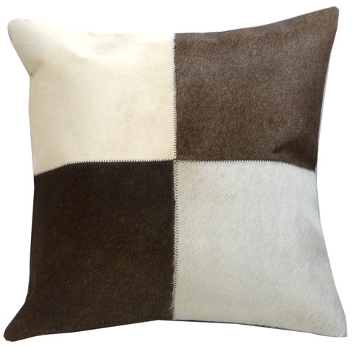 Boyle Four Panel Cowhide Cushion with Insert