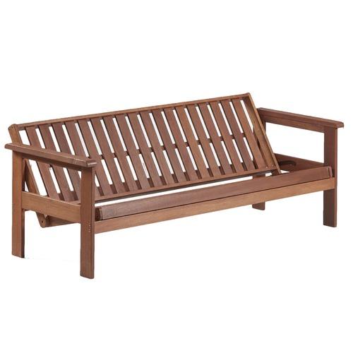 Breeze Outdoor Windsor 3 Seater Wood Outdoor Sofa Bed
