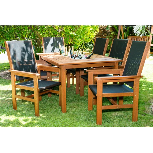 Breeze Outdoor Murray 9 Piece Outdoor Set with 2 Drink Trays