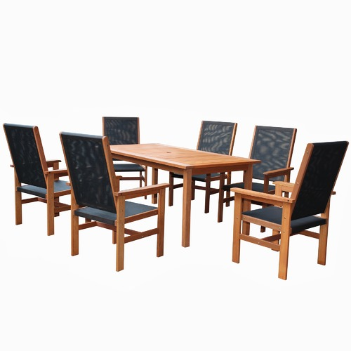 Breeze Outdoor 6 Seater Barossa Outdoor Dining Table & Chair Set