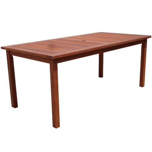 Breeze Outdoor Barossa Shorea Wood Outdoor Dining Table