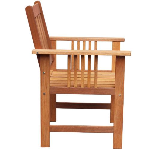 Breeze Outdoor Natural Avoca Wood Outdoor Armchair