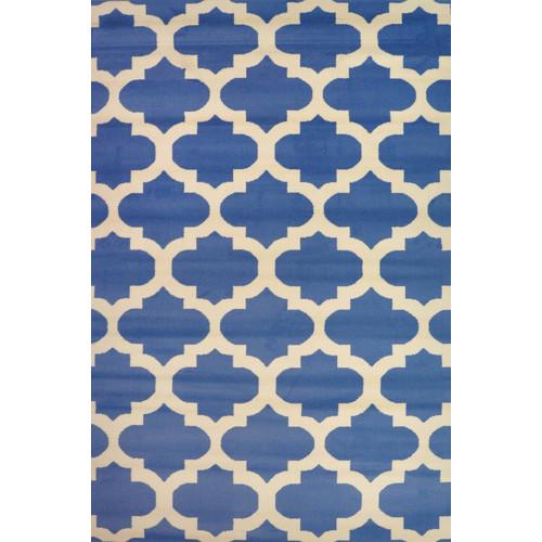 Blue Amp White Picasso Tile Rug Temple Amp Webster