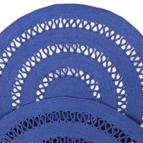 Atlas Flooring Denim Dotti Round Cotton Rug