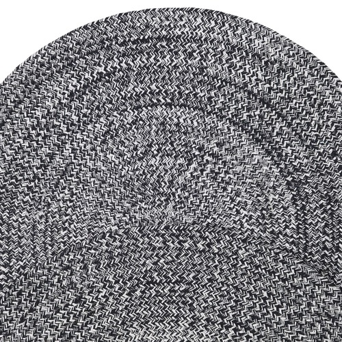 Atlas Flooring Black & White Merino Round Cotton Rug