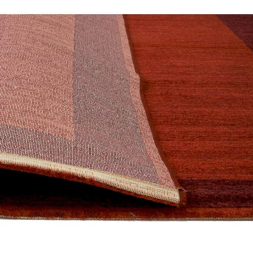 Atlas Flooring Red Soft Pile Modern Fusion Bordered Rug