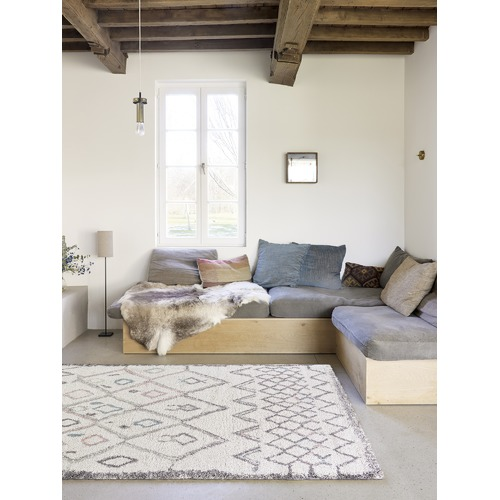 Atlas Flooring Cream Tribal Style Moroccan Rug