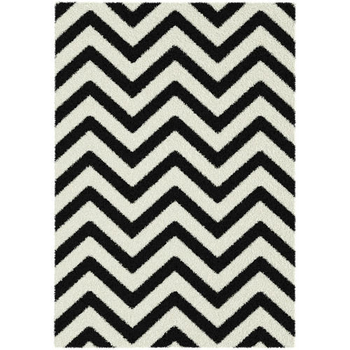 Atlas Flooring Black Elle Chevron Rug
