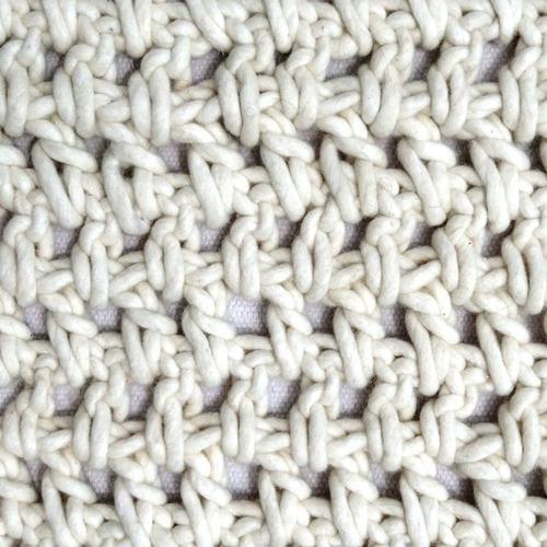 White Kraftwork Rug