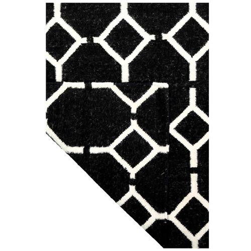 Atlas Flooring Black Tile Kenitra Wool Rug
