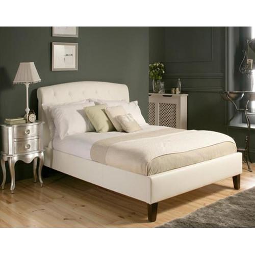 Rawson & Co Italian Design Mono Lisa II PU Leather Wooden Bed Frame