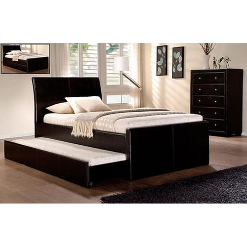 Rawson & Co Vivian King Single Faux Leather Trundle Bed