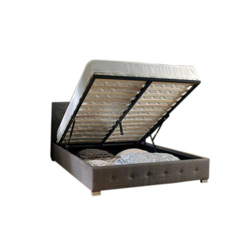 Rawson & Co Summerville Gas Lift Grey Fabric Wooden Bed Frame