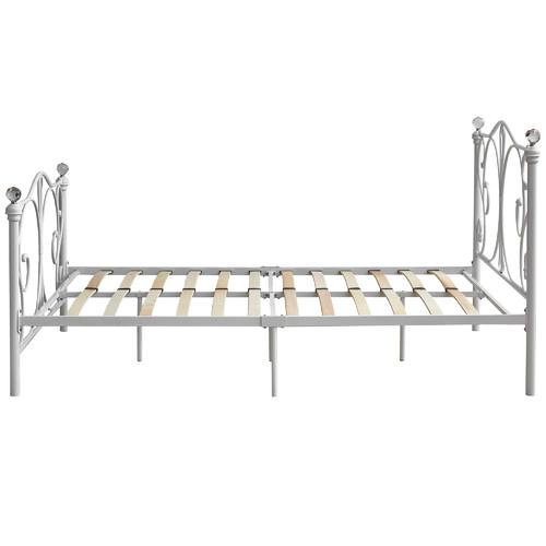 Rawson & Co White Classic Sophie Metal Bed Frame