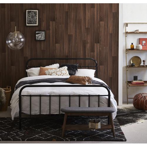 rawson co black jessica metal bed frame - Black Metal Bed Frame