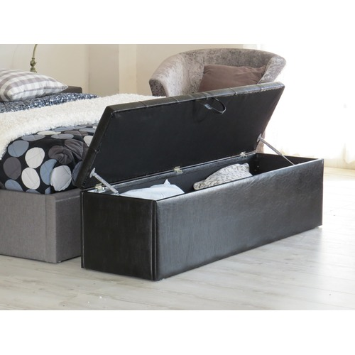 Rawson & Co Chester Faux Leather Storage Ottoman