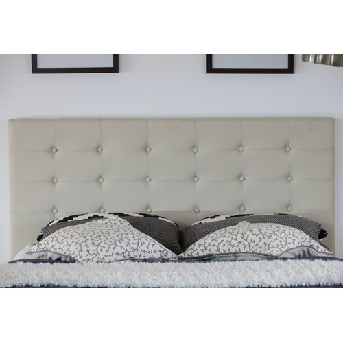 Rawson & Co Beige Kylie Buttoned Upholstered Bed Frame