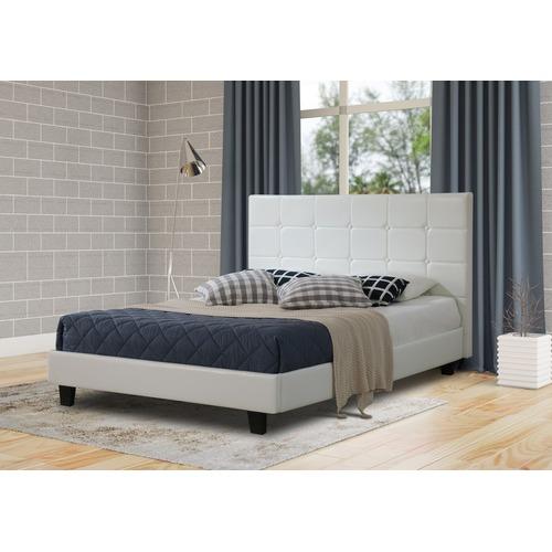 Rawson & Co White Amalfi Button Faux Leather Bed Frame