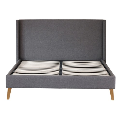 Rawson & Co Grey Kalmar Upholstered Bed Frame