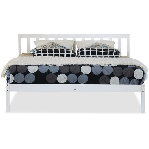 Rawson & Co White Medina Pine Wood Bed Frame