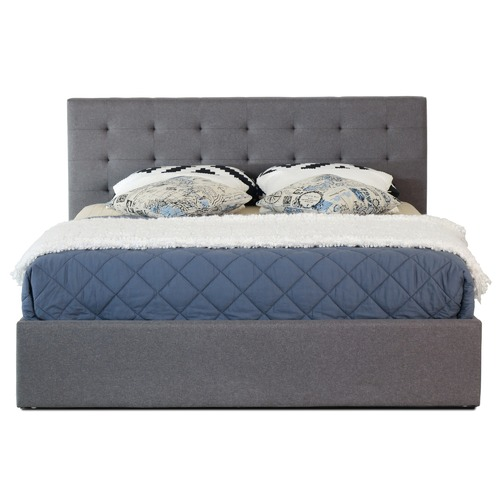 Rawson & Co Grey Wiltshire Upholstered Gas Lift Bed Frame
