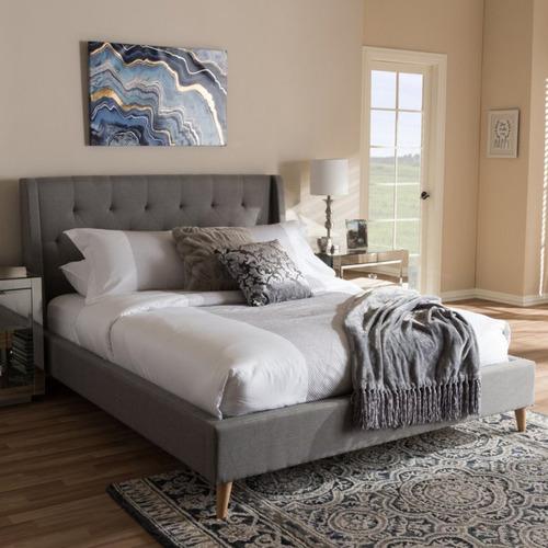 Rawson & Co Grey Lisbon Upholstered Bed Frame