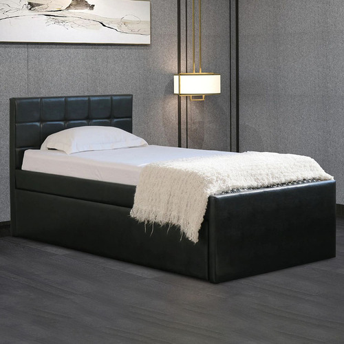 Rawson & Co Landa Faux Leather King Single Bed with Trundle