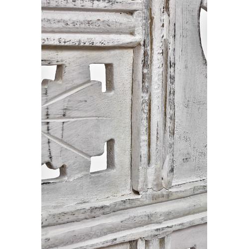 Dodicci White Wash 4 Panel Room Divider