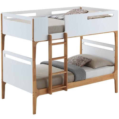 White & Oak Charlie Single Bunk Bed