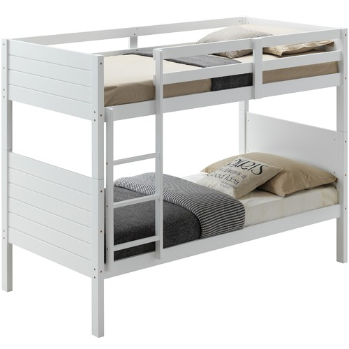 Dodicci White Frankie Pine Wood Bunk Bed